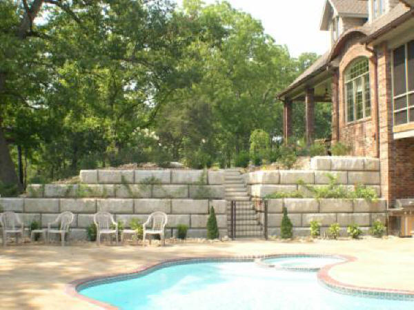 Pool and Patio Retaining Wall