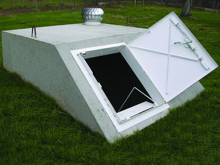 precast storm shelters