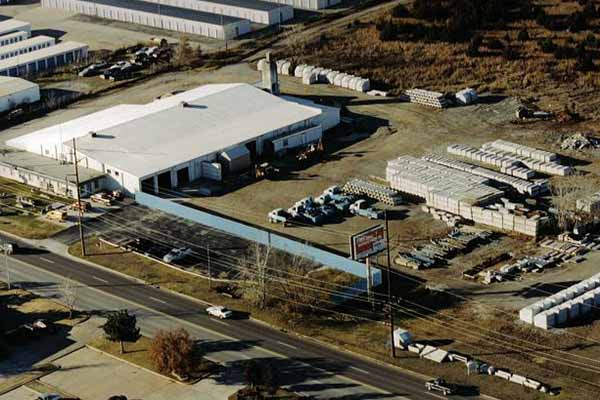 custom precast products Aerial view of Tulsa, Oklahoma manufacturing plant