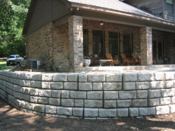 Cobblestone Wall with Stairs