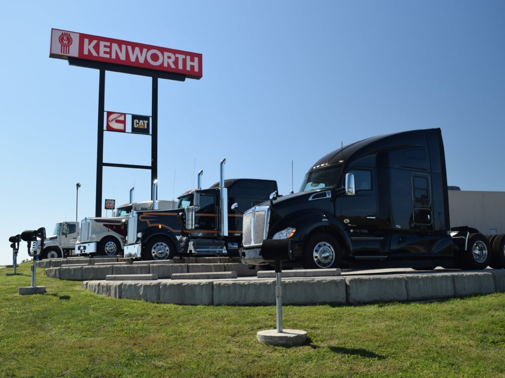 Gravity Walls and Display at MHC Kenworth Dealer