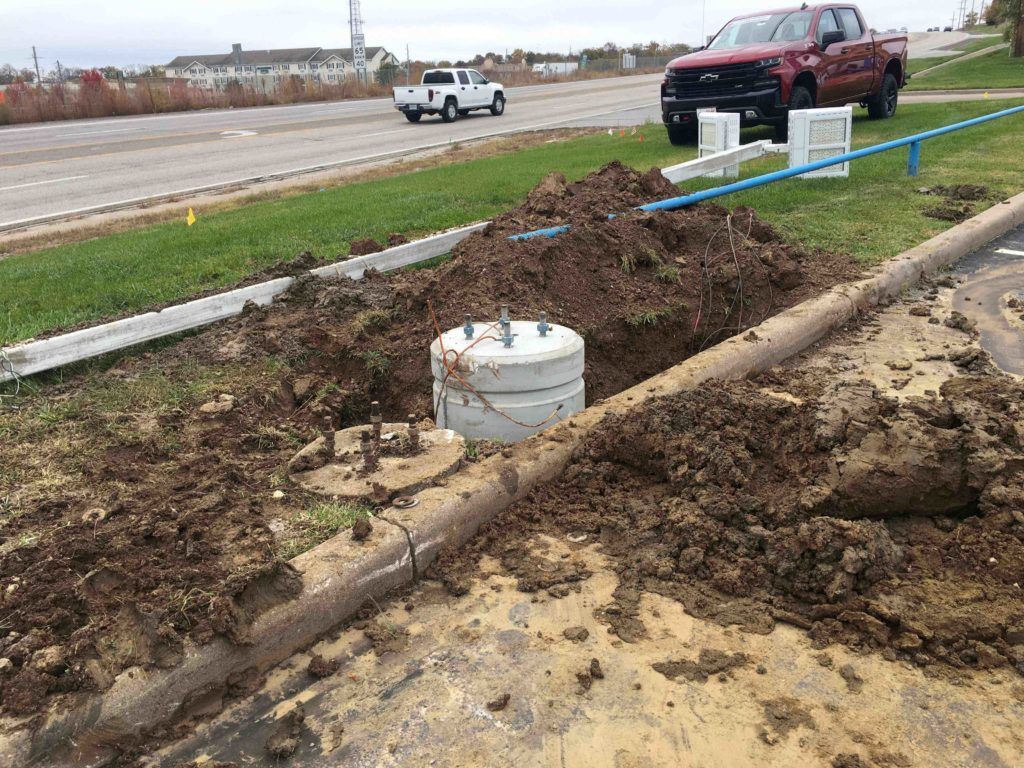 Precast Light Pole Bases for Heartland Chevrolet